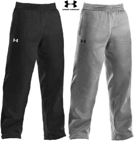 Under Armour Mens Fleece Lined Open-Bottom Team Sweat Pants - UA Loose Fit Pant