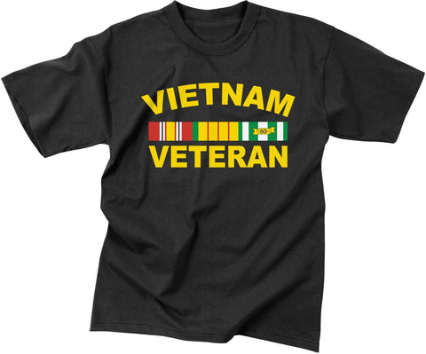 Men's Black Vietnam Veteran Short Sleeve T-Shirt