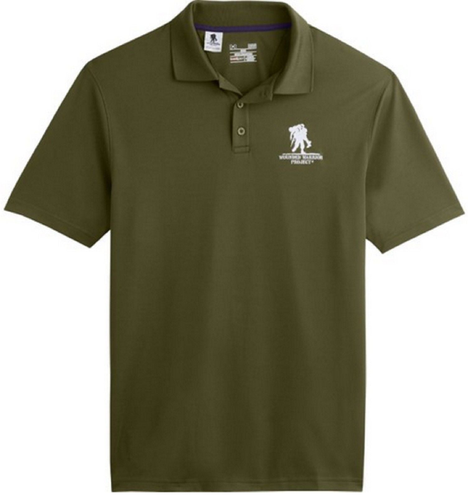 3d1652cf ... Under Armour Performance Polo Shirt Wounded Warrior Project Collared  Golf Shirts Purple Green Gray Black