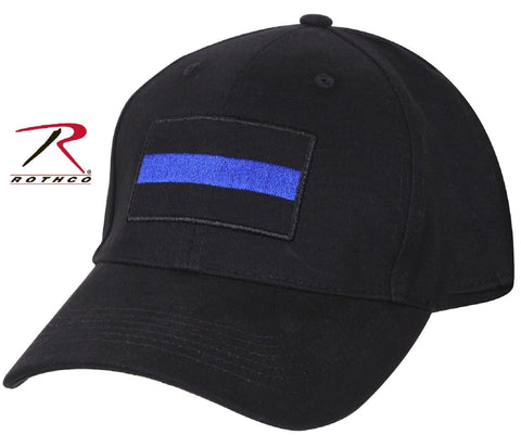 Black Thin Blue Line Adjustable Baseball Cap - Rothco Low Profile Pro Police Hat