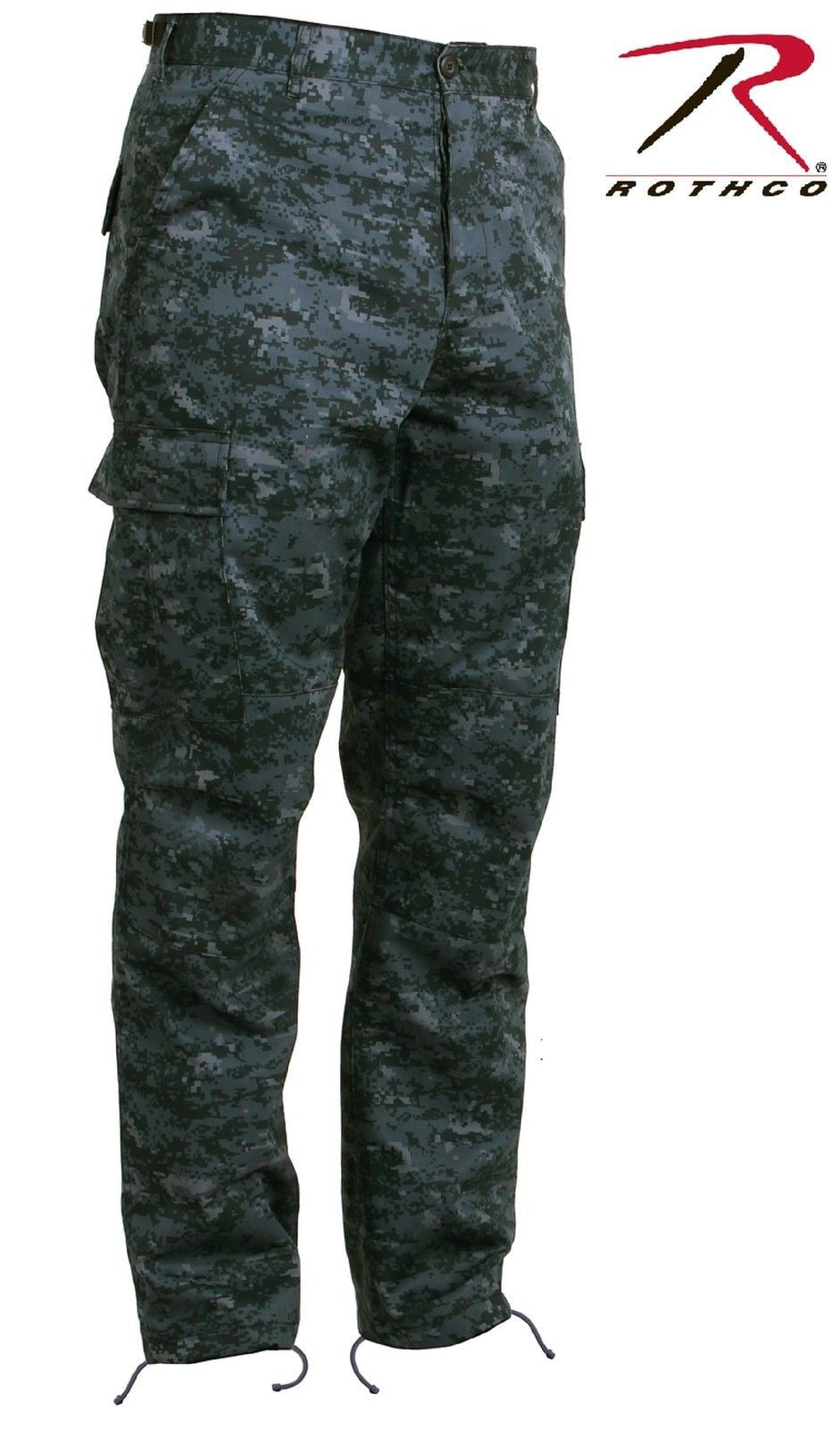Midnight Blue Digital Camouflage BDU Cargo Pant - Mens Military Style Camo  Pants 9806264b106