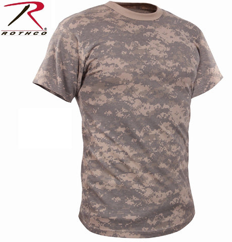 Kid's Vintage ACU Digital Camo T-Shirt - Boy's Cotton Digi Camouflage Tee Shirt