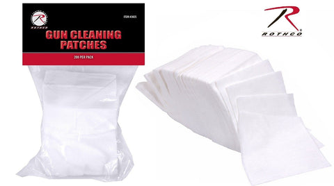 "200 Cotton Gun Cleaning Patches - Rothco 3"" Dry Firearm Maintenance Patch Wipe"