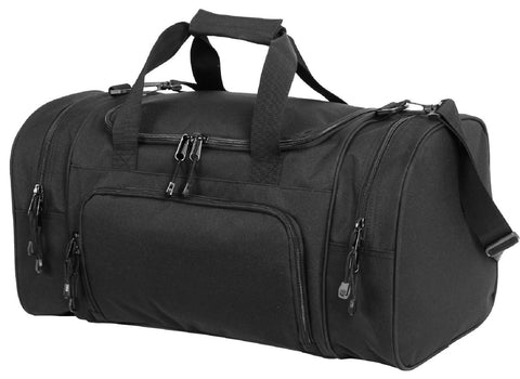 "Black Sport Duffle Carry On Bag - Versatile Rothco 21"" Gym Travel & Workout Bags"