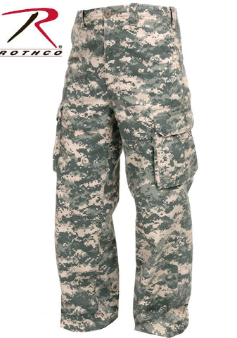 Kids Vintage ACU Digital Paratrooper Fatigue Camouflage Cargo Pants Rothco 2506