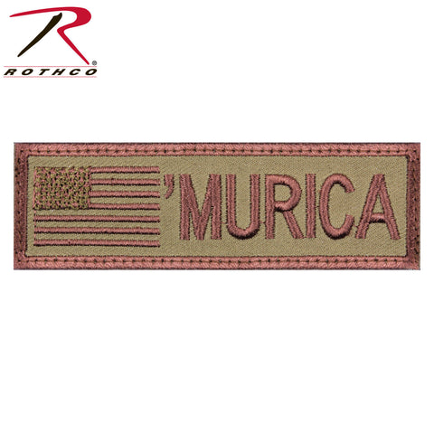 "Rothco ""Murica"" Hook & Loop Flag Patch - Military Morale Patch (4"" x 1-1/8"")"
