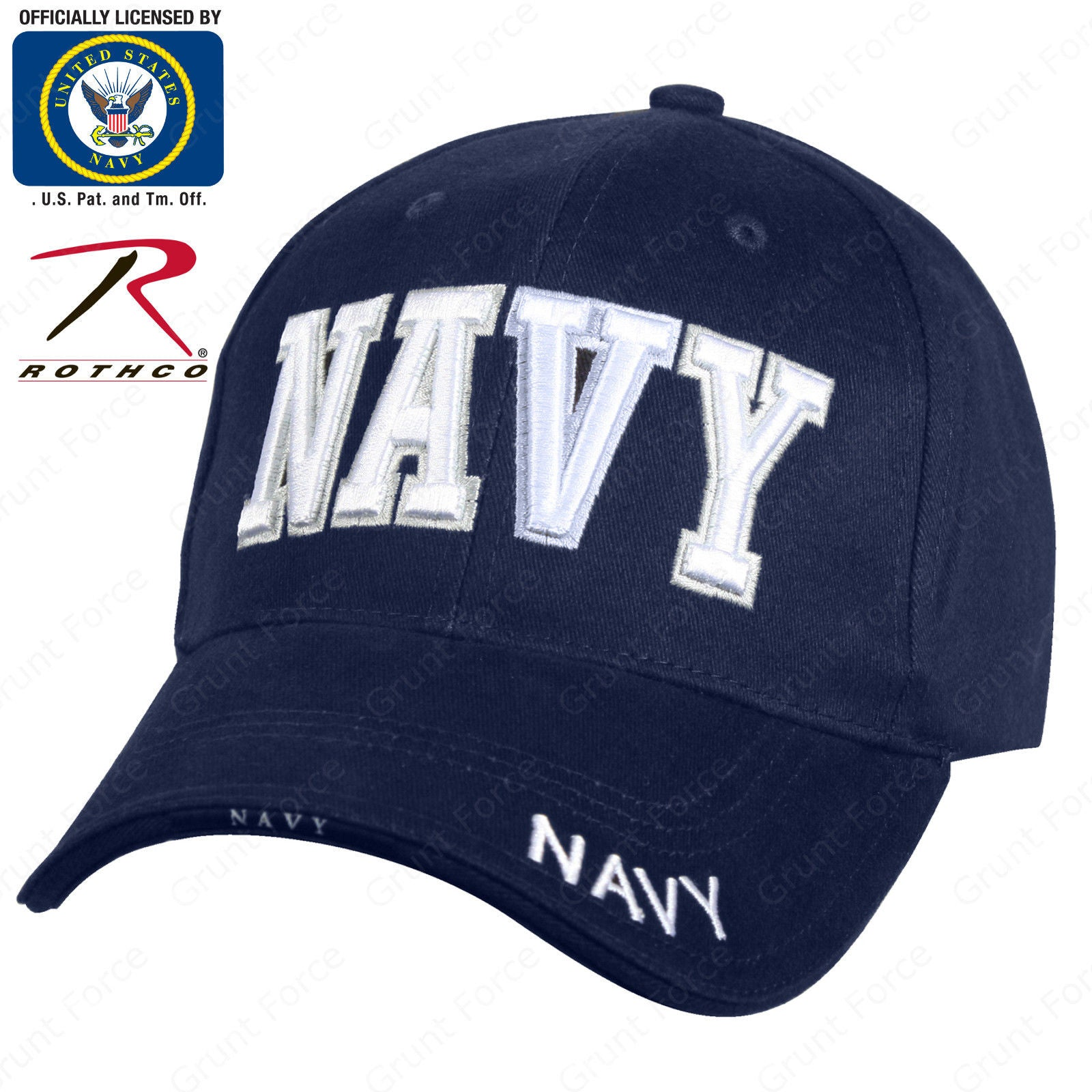 82a3c83df9fc7 ... Navy Blue Mid-Low Profile Baseball Cap. Zoom. Move your mouse over  image or click to enlarge