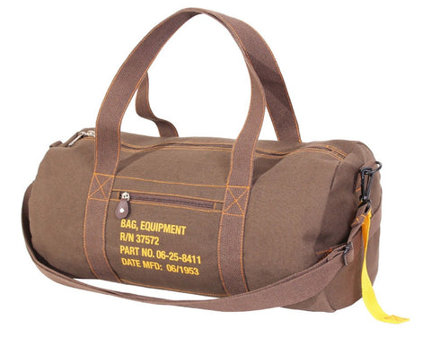 Rothco Brown Canvas Equipment Gear Shoulder Bag w/ Strap & Handles