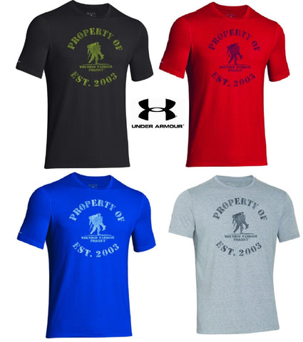 2bfd490b Under Armour Property of WWP T-Shirt - Mens UA Wounded Warrior Project Tee  Shirt