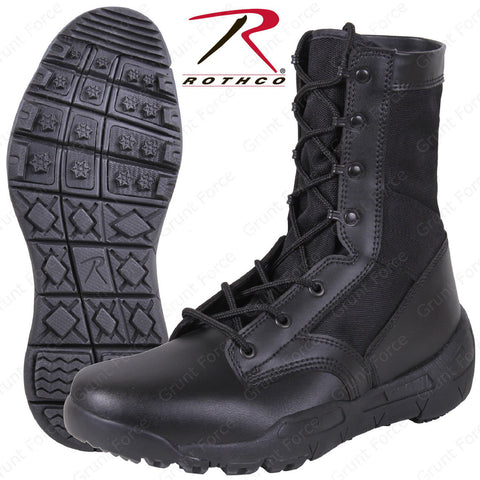 "Lightweight V-Max Tactical Boots - Rothco Black 8.5"" Field Duty Work Boot"