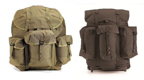 G.I. Military Type Enhanced Nylon Frame ALICE Packs Backpacks w/ Frame Rucksack