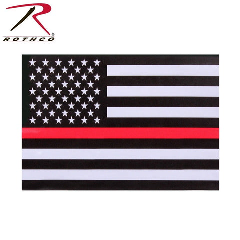 Rothco Thin Red Line American Flag Decal - Fire Department Support Window Decal
