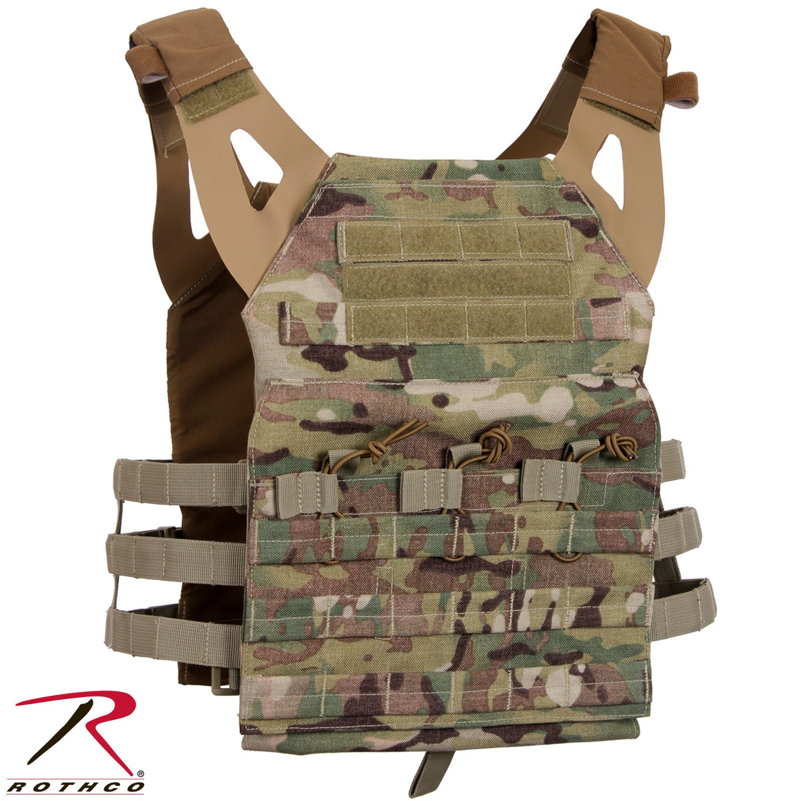 67d9304a00 Lightweight Plate Carrier Tactical Vest - Rothco MultiCam or OD Mag Pouch  Vests