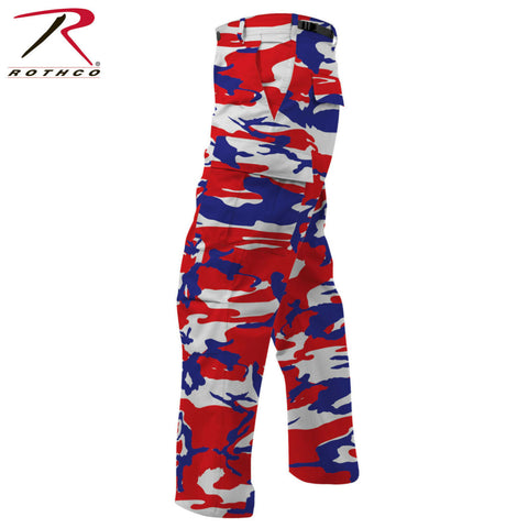 Rothco Red White Blue Camo Tactical BDU Pants - Color Camo BDU Fatigue