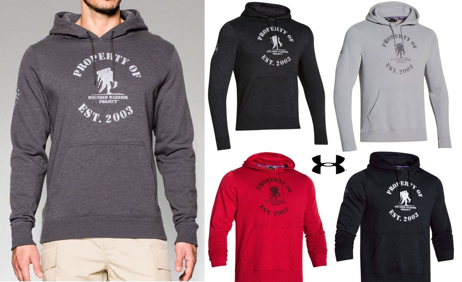 750b453af6c Under Armour Wounded Warrior Project Hooded Sweatshirt - Property Of WWP  Hoodie.