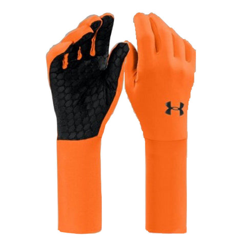 UA Cold Gear Liner - Under Armour Men's Hunting Glove Liner Hi-Viz Orange