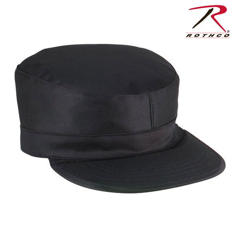 Rothco Gov't Spec 2-Ply Army Ranger Fitted Black Fatigue Caps