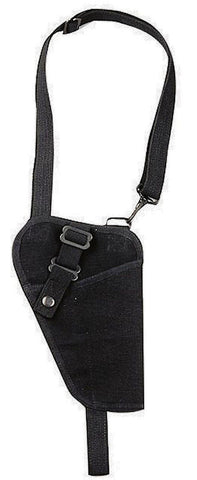 "6"" Black Adjustable Heavyweight Canvas Law Enforcement Tactical Shoulder Holster"