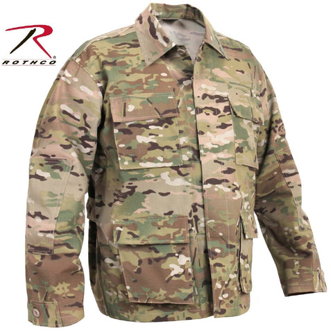 MultiCam Military Style BDU Shirts - Rothco Camouflage Uniform Shirt Top S-3XL