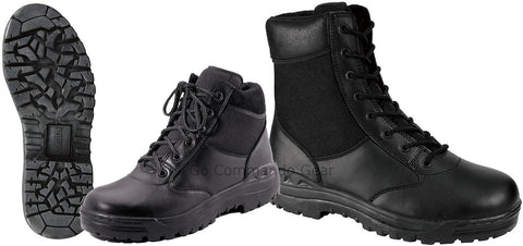 "Forced Entry 8"" or 6"" Black Tactical Boot - Security, Police, SWAT, Work Boots"