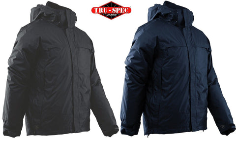 Tru-Spec 3-In-1 Waterproof Jacket - Mens Black or Navy Blue Nylon Tactical Coat