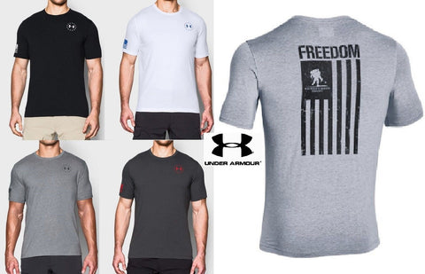Under Armour WWP Freedom Flag T-Shirt - UA Loose Fit Wounded Warrior Tee Shirt