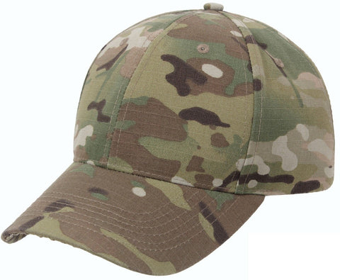 Mens MultiCam Hat Low Profile Multi Cam Camo Camouflage Adjustable Vented Cap