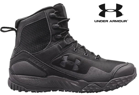 Under Armour Valsetz RTS Side-Zip Tactical Boot - Black UA Law Enforcement Boots