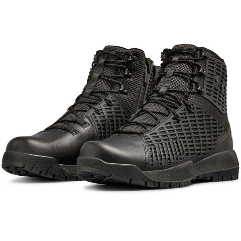 UA Stryker Side-Zip Boot - Under Armour Men's Tactical Boots in Black