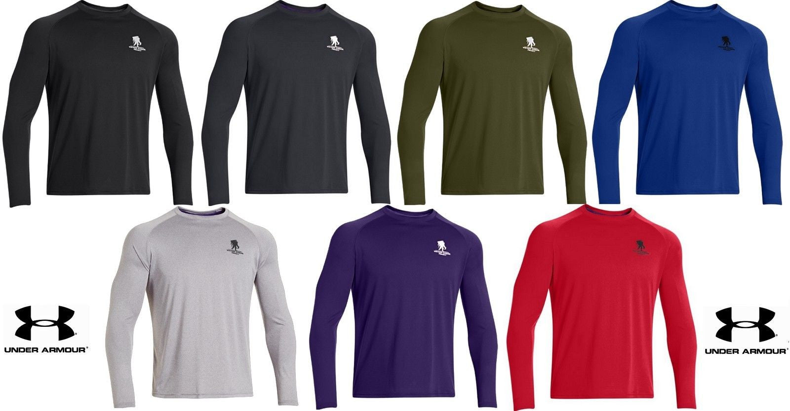 Purple Under Armour Men/'s WWP UA Tech Long Sleeve T-Shirt Medium