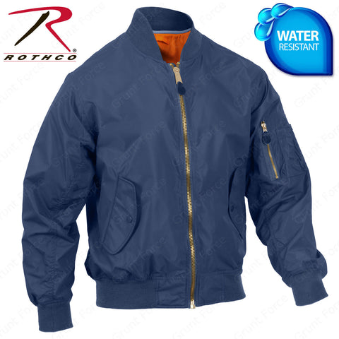 d5afc070f Lightweight MA-1 Flight Jacket - Rothco Navy Blue Spring Weight Bomber  Jacket