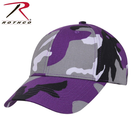 Rothco Camo Low Profile Cap - Ultra Violet Purple Camo Tactical Baseball Hat