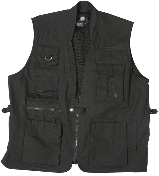 Plain Clothes Concealed Carry Tactical Cargo Vest Black