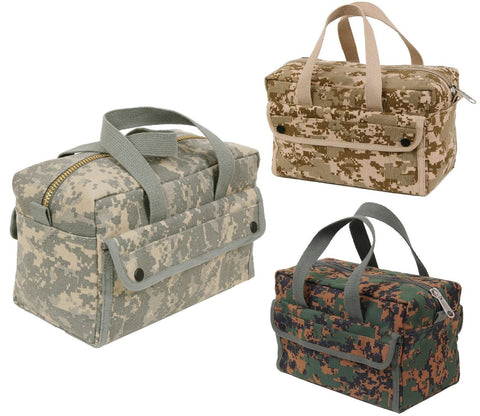 "Digital Camouflage Military-Style Mechanics Utility Tool Bag - 11"" x 7"" x 6"""