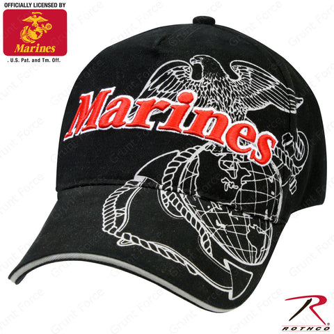 Rothco Officially Licensed Marines Globe & Anchor Mid-Low Profile Baseball Cap