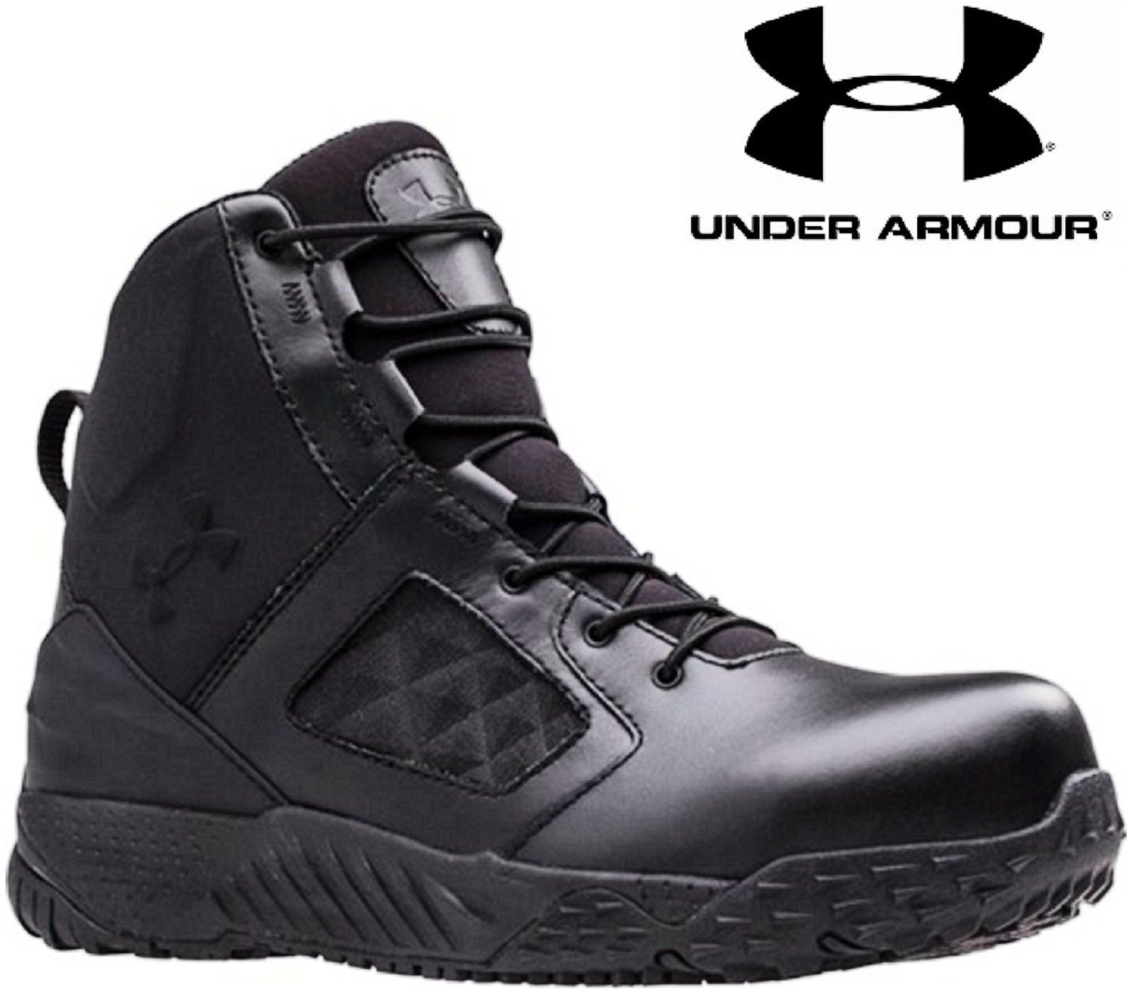 2b5d1096cc7 Under Armour Side Zip 2.0 Protect Tactical Boots - UA Mens Field ...