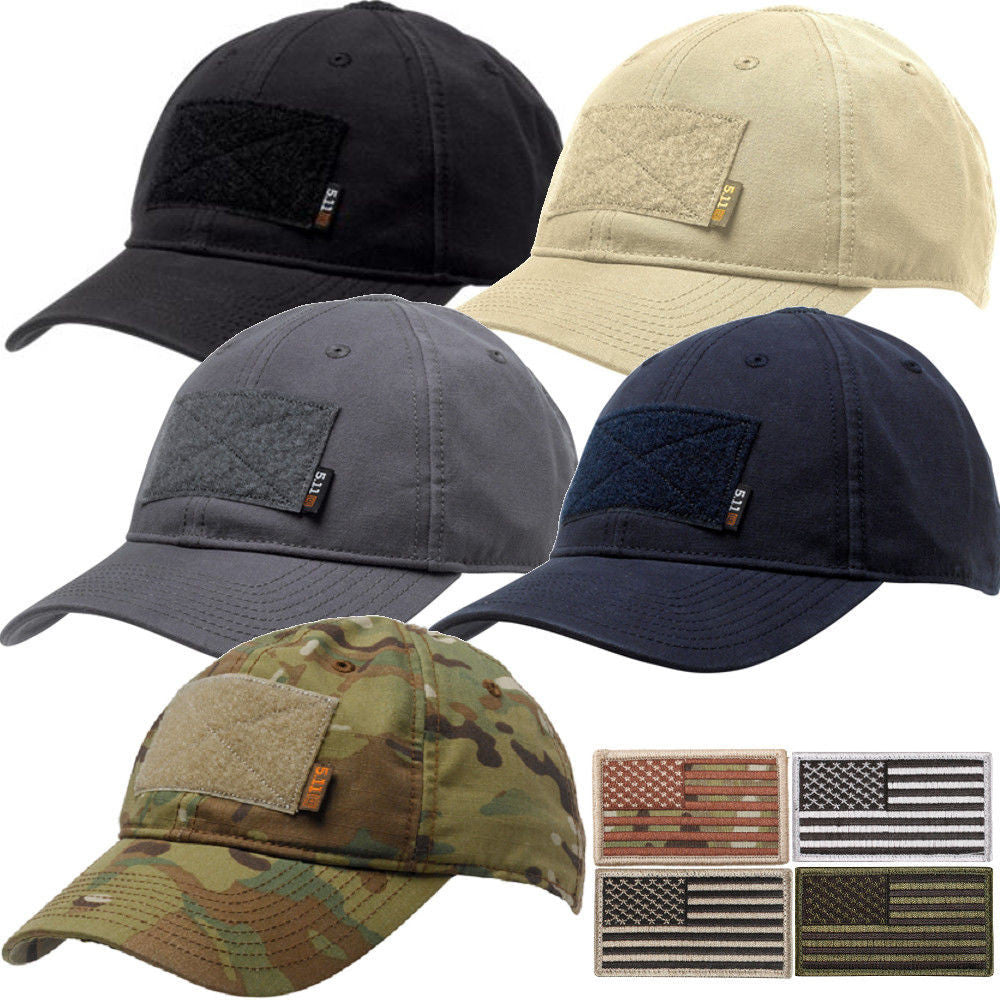 5.11 Flag Bearer Tactical Cap with Removable Flag Patch – Grunt Force dfaf0cbdc1c