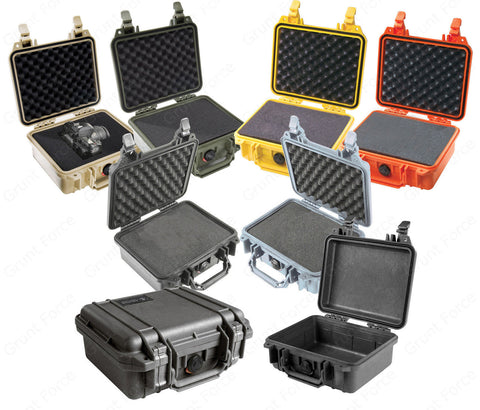 Pelican 1200 Case - Hard Case & Watertight Seal - 6 Colors to choose