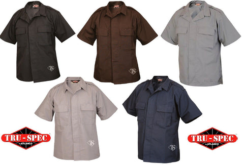 Tru-Spec Short Sleeve Tactical Shirt - Solid Button Front Uniform Shirts