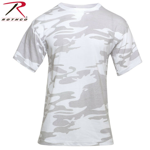 Rothco White Camo/Snow Camo Military Style T-Shirt - Camouflage Tees