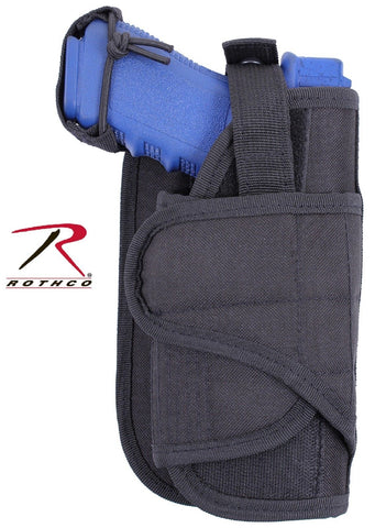 Rothco Black Tactical Vertical Holster - MOLLE Adjustable Pistol Firearm Holster