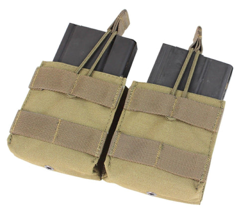 Condor MA24 Tan Double 7.62 NATO .308 MOLLE Open Top Magazine Holster Pouch