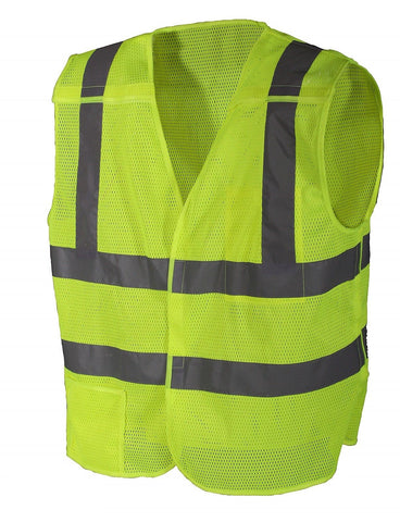 Safety Green 5-Point Breakaway Vest Reflective Breathable Hi Visibility Vests