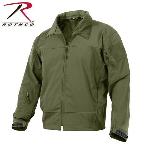 Rothco Covert Ops Lightweight Soft Shell Jacket Olive Drab Men's Tactical Jacket