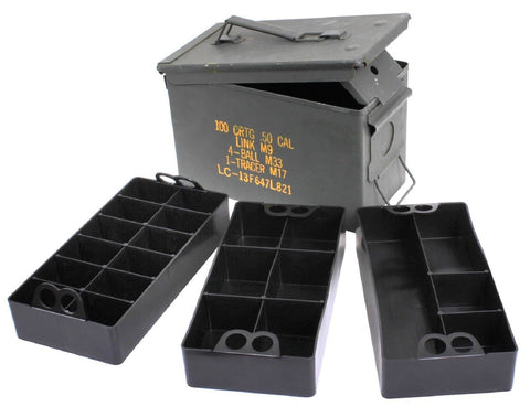 MTM Case-Gard 3 Removable Ammo Can Organizer Trays - 22-Compartments