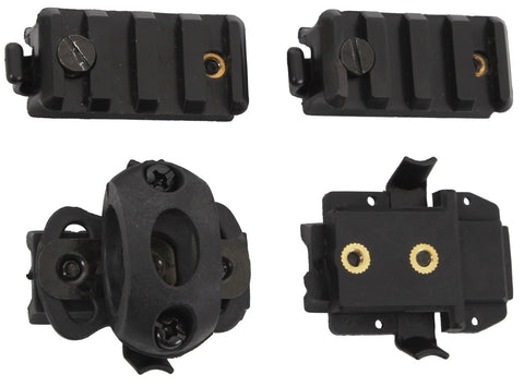 Airsoft Helmet Accessory Pack - Black - Upgrade Your Helmet W/ These Attachments