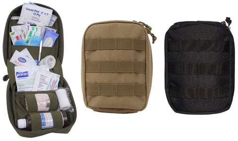 "Rothco Tactical 40 Piece First Aid Kit - 8"" MOLLE General Purpose Emergency Kits"