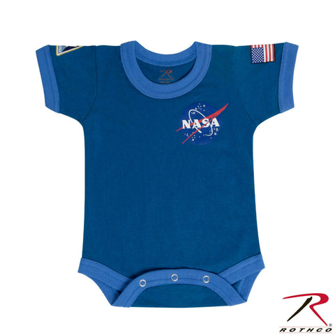 NASA Blue Infant One Piece Snapsuit - Rothco Baby RomperDiaper Shirt Bodysuit