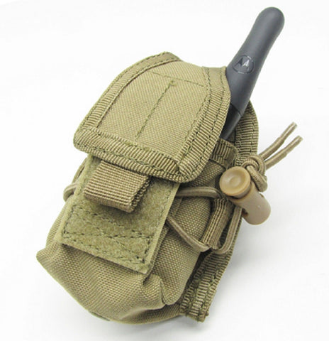 Condor Outdoor Coyote Tan HHR Tactical MOLLE Handheld Cell / Radio Pouch