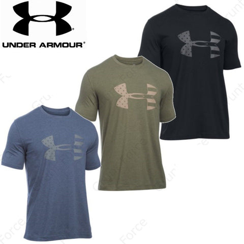Under Armour Big Flag Logo T-Shirt - UA Mens BFL Full & Loose Fit Tee Shirt
